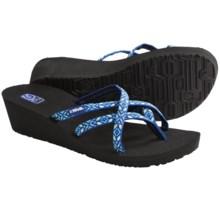 Teva Mush® Mandalyn Wedge Ola 2 Sandals (For Women) in Yukitimi Tribal Aqua - Closeouts