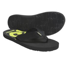 Teva Mush® Print Thong Sandals (For Men) in Brick Sulfur Green - Closeouts