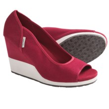Teva Mush® Promenade Shoes - Wedge Heel, Peep Toe (For Women) in Red - Closeouts