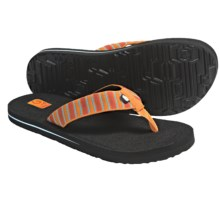 Teva Mush Sandals (For Kids) in Deco Stripe Orange - Closeouts