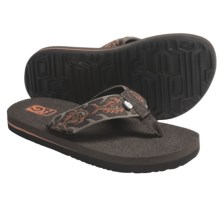 Teva Mush Sandals (For Kids) in Piranha Harvest Pumpkin - Closeouts