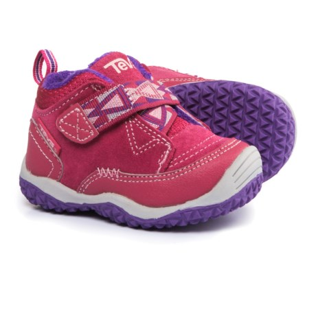 Teva Natoma Sneakers - Suede, Fleece Lined (For Infant and Toddler Girls) in Raspberry