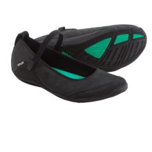 Teva Niyama Flat Perf Shoes - Leather (For Women) in Black - Closeouts
