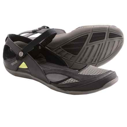 Teva Northwater Sandals - Faux-Leather and Mesh (For Women) in Black - Closeouts