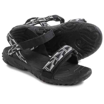 Teva Nova Sandals (For Little Girls) in Black/White - Closeouts