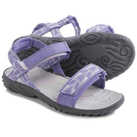 Teva Nova Sandals (For Little Girls) in Purple/Grey - Closeouts