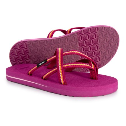 8fc33fb38c0478 Teva Olowahu Flip-Flops (For Girls) in Lindi Boysenberry