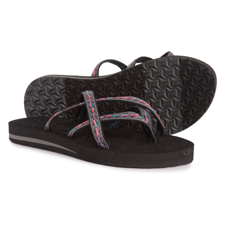 ad5711504 Teva Olowahu Flip-Flops (For Women) in Felicitas Black