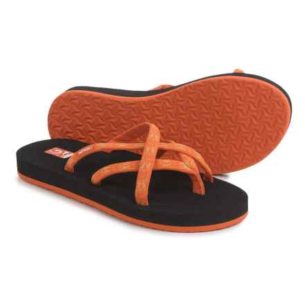 Teva Olowahu Flip-Flops - Mush® Footbed (For Women) in Hazel Orange - Closeouts