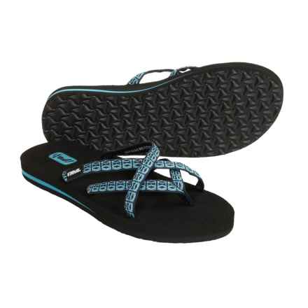Teva Olowahu Flip-Flops - Mush® Footbed (For Women) in Lynx Blue - Closeouts
