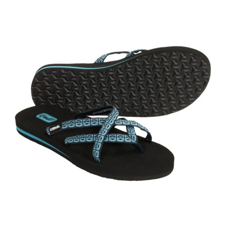 Teva Olowahu Flip-Flops - Mush® Footbed (For Women)