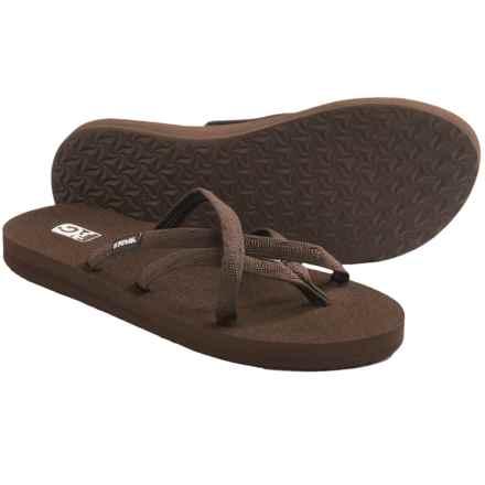 Teva Olowahu Flip-Flops - Mush® Footbed (For Women) in Mix B Bracken - Closeouts