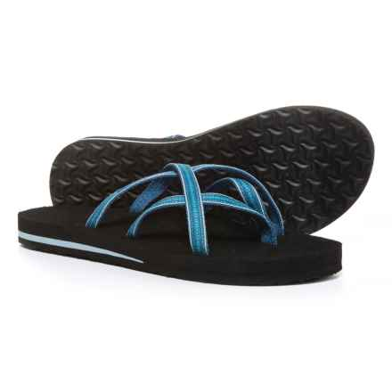 Teva Olowahu Flip-Flops - Mush® Footbed (For Women) in Pintado Blue - Closeouts