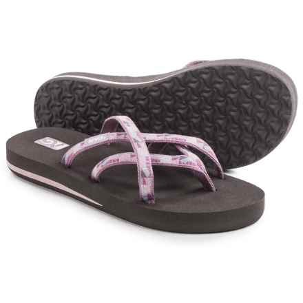 Teva Olowahu Flip-Flops - Mush® Footbed (For Women) in Waterfall Elderberry - Closeouts