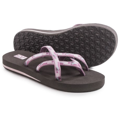Teva Olowahu Flip-Flops - Mush® Footbed (For Women) in Waterfall Elderberry
