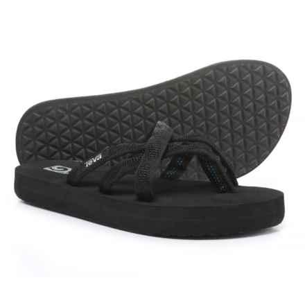 Teva Olowahu Mush® Flip-Flops (For Girls) in Black - Closeouts