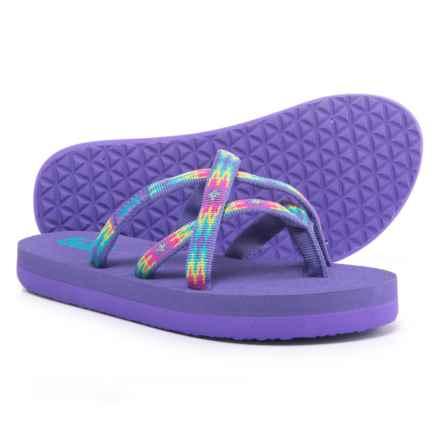 Teva Olowahu Mush® Flip-Flops (For Girls) in Pana Purple - Closeouts