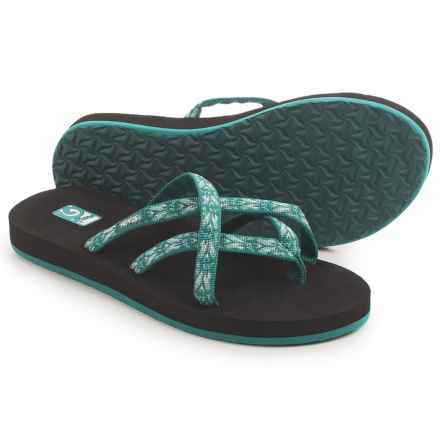 Teva Olowahu Thong Sandals - Mush® Footbed (For Women) in Hazel Blue - Closeouts