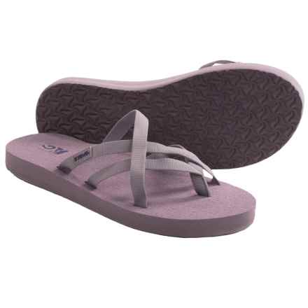 Teva Olowahu Thong Sandals - Mush® Footbed (For Women) in Sea Fog - Closeouts