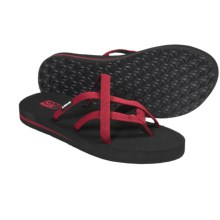 Teva Olowahu Thong Sandals - Mush® Footbed (For Women) in Stitches Red - Closeouts