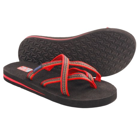 Teva Olowahu Thong Sandals - Mush® Footbed (For Women) in Sudan Poppy Red