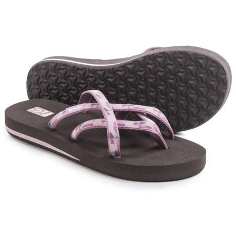 Teva Olowahu Thong Sandals - Mush® Footbed (For Women) in Waterfall Elderberry