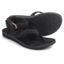 Teva Original Suede Braid Sport Sandals (For Women) in Black - Closeouts