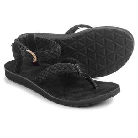 Teva Original Suede Braid Sport Sandals (For Women) in Black - Closeouts