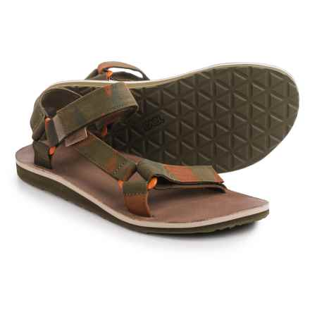 Teva Original Universal Brushed Canvas Sandals (For Men) in Dark Olive - Closeouts