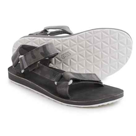 Teva Original Universal Brushed Canvas Sandals (For Men) in Grey - Closeouts