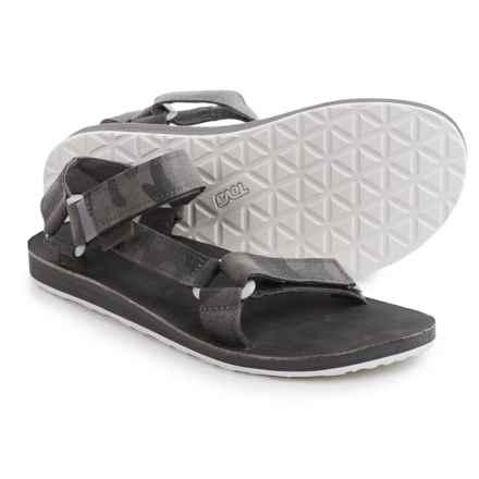 Teva Original Universal Brushed Canvas Sandals (For Men) in Grey - Closeouts
