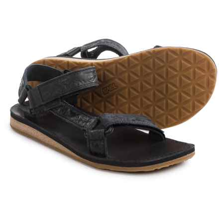 Teva Original Universal Crafted Leather Sandals (For Men) in Black - Closeouts