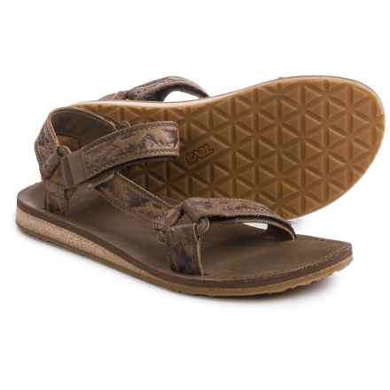 Teva Original Universal Crafted Leather Sandals (For Men) in Brown - Closeouts