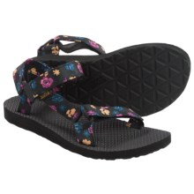 Teva Original Universal Floral Sport Sandals (For Women) in Black - Closeouts