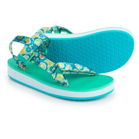 Teva Original Universal Hi-Rise Sport Sandals (For Big Kids) in Blue Multi Flower