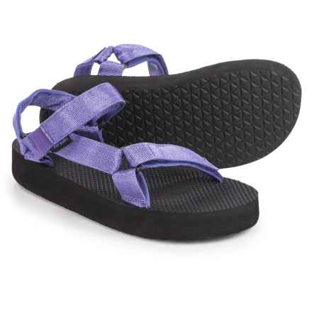 Teva Original Universal Hi-Rise Sport Sandals (For Big Kids) in Purple Metallic/Black - Closeouts