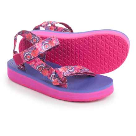 Teva Original Universal Hi-Rise Sport Sandals (For Little Kids) in Pink Multi Flower - Closeouts