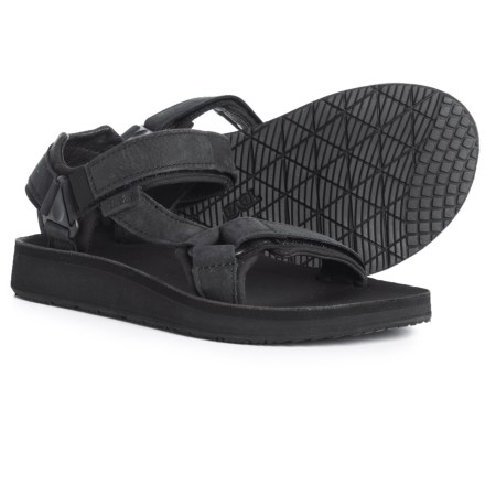 5ec64bf1831b Teva Original Universal Premier Leather Sandals (For Women) in Midnight  Black - Closeouts