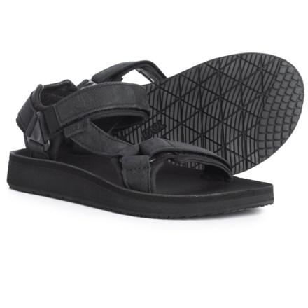 9dc5b4f2dc3 Teva Original Universal Premier Leather Sandals (For Women) in Midnight  Black - Closeouts