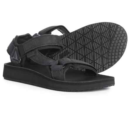Teva Original Universal Premier Leather Sandals (For Women) in Midnight Black - Closeouts