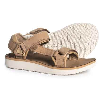 Teva Original Universal Premier Leather Sandals (For Women) in Tan - Closeouts