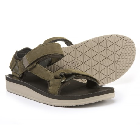 Teva Original Universal Premier Sport Sandals - Nubuck (For Men) in Olive