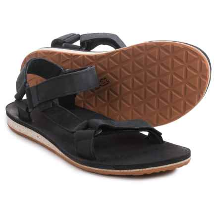 Teva Original Universal Premium Sandals - Leather (For Men) in Black - Closeouts