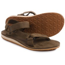 Teva Original Universal Premium Sandals - Leather (For Men) in Dark Earth - Closeouts
