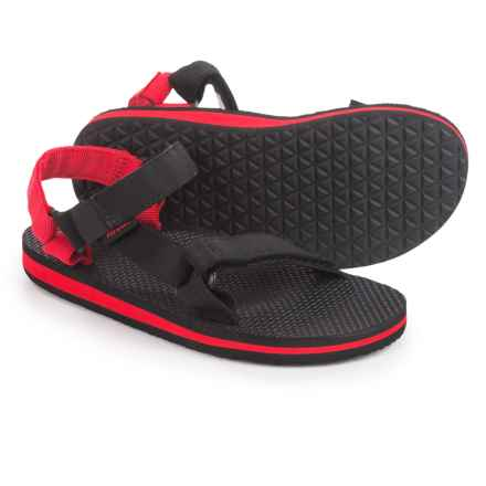 Teva Original Universal Sandals (For Little Girls) in Black/Red - Closeouts