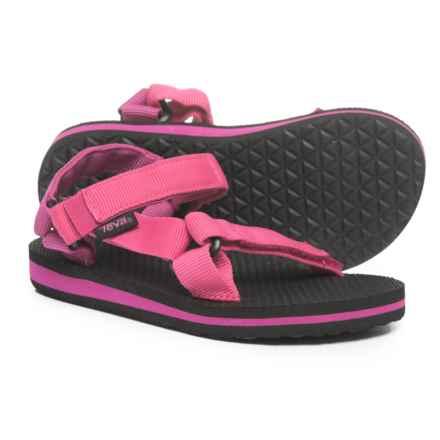 Teva Original Universal Sandals (For Little Girls) in Raspberry/Magenta - Closeouts