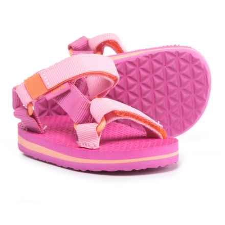 Teva Original Universal Sport Sandals (For Infant and Toddler Girls) in Pink/Orange - Closeouts