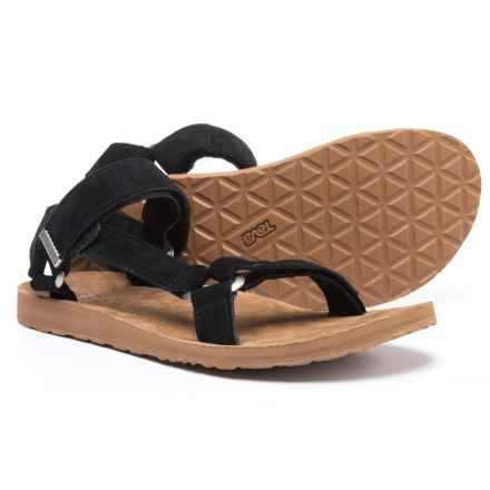 Teva Original Universal Sport Sandals - Suede (For Men) in Black - Closeouts