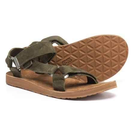 Teva Original Universal Sport Sandals - Suede (For Men) in Olive - Closeouts