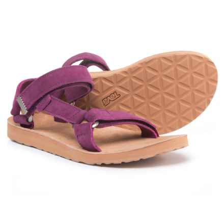 Teva Original Universal Sport Sandals - Suede (For Women) in Dark Purple - Closeouts